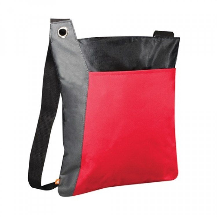 PBO Conference Zippered Tote - Red/Grey/Black