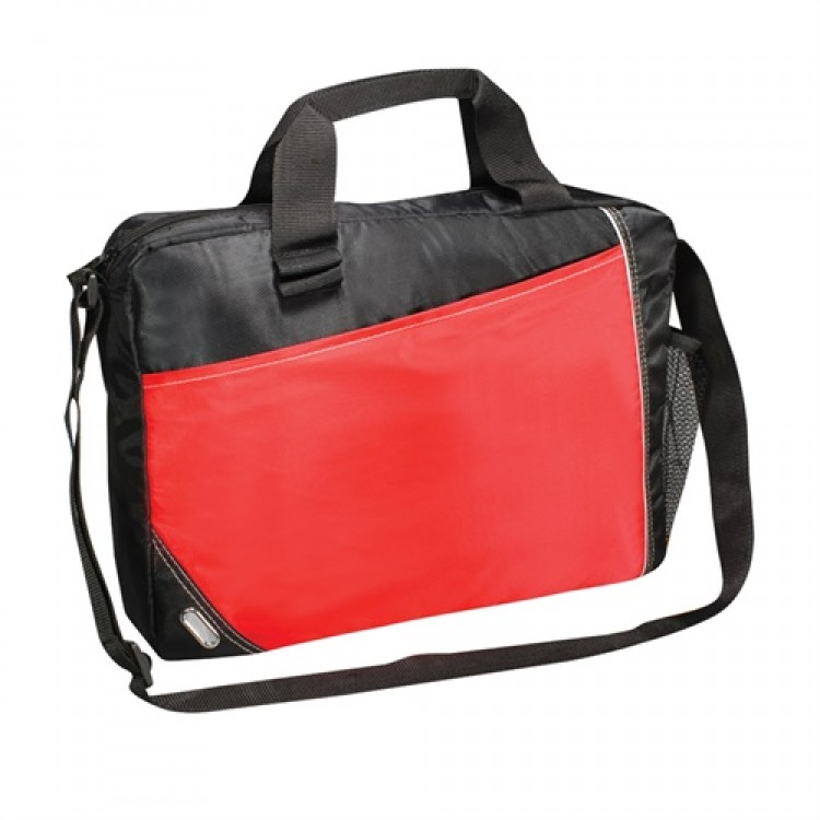 PBO Conference Laptop Satchel - Red/Black