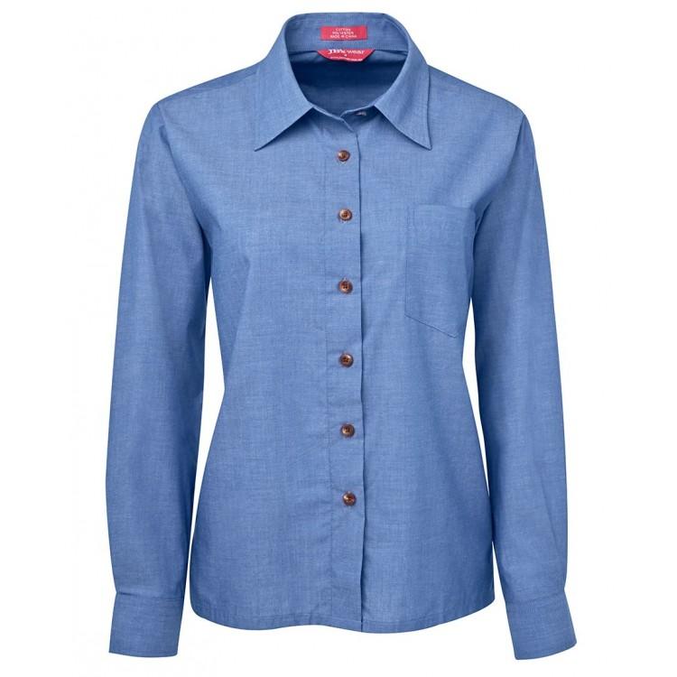 JB's Ladies Original L/S Indigo Chambray Shirt