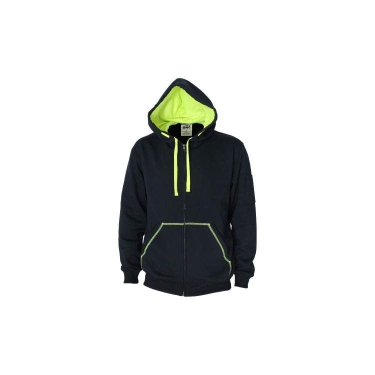 Full zip Super Brushed Fleece Hoodie