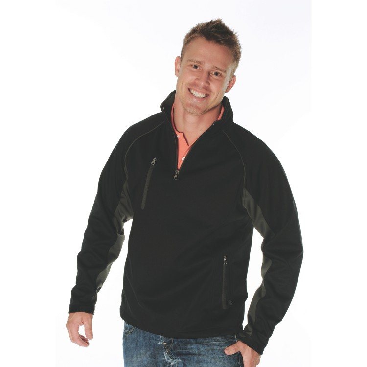 Mens 1/2 Zip Swiss Softshell Jacket