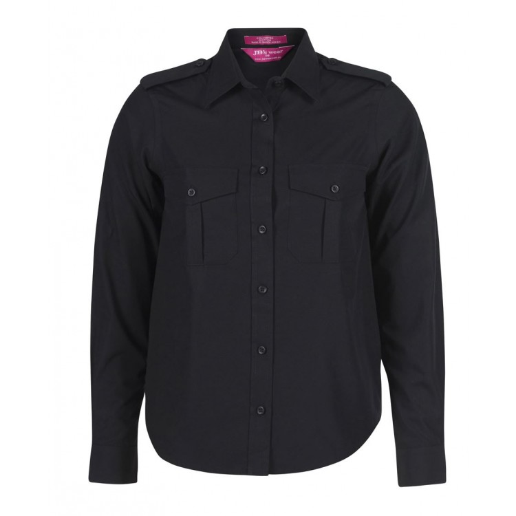 Ladies Epaulette Shirt L/S