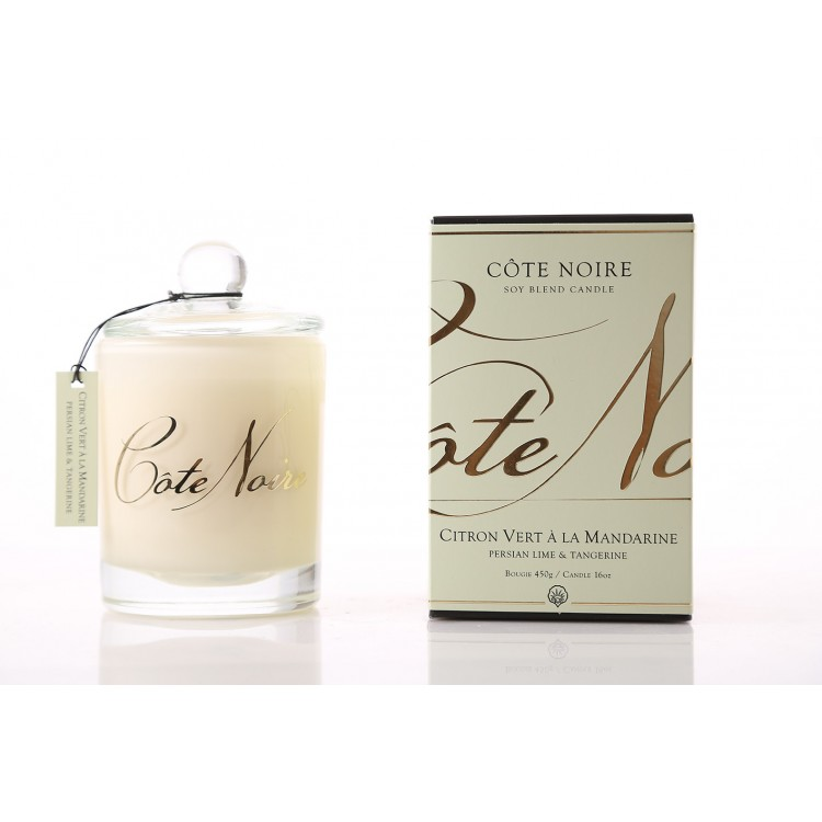 Côte Noire Soy 450g Candle - Persian Lime & Tangerine