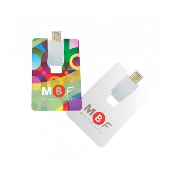 Flip Card USB 2.0 Flash Drive - 4GB