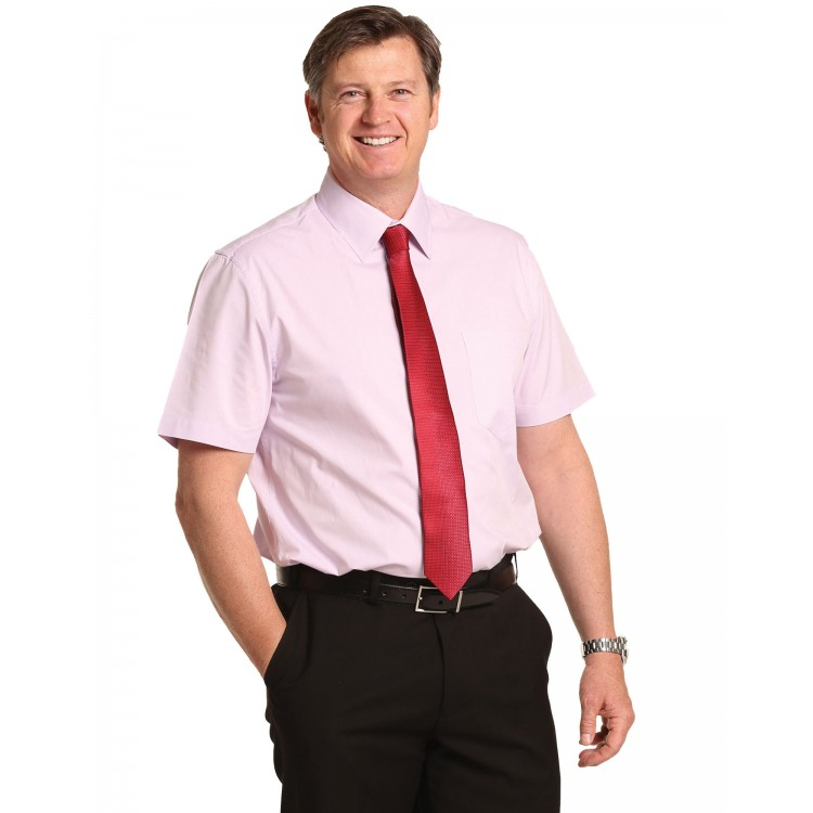 Men's Cvc Oxford Short Sleeve Shirt