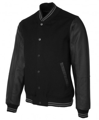 Art Leather Baseball Jacket