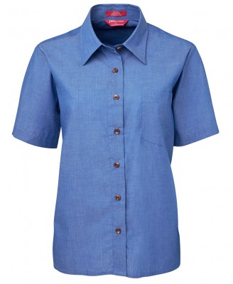JB's Ladies Original S/S Indigo Chambray Shirt
