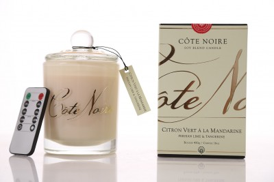 Côte Noire LED 450g Candle - Persian Lime & Tangerine