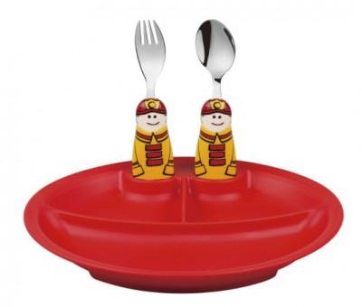 Eat4Fun Fireman 3pc Plate Set
