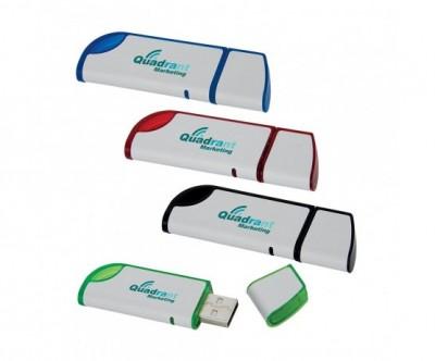 Slanted USB 2.0 Flash Drive - 4GB