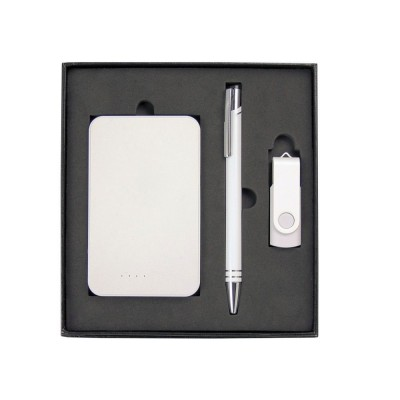 the-range-gift-set-with-charger-8gb-lacquered-rotate-flash-drive-&-hawk-pen