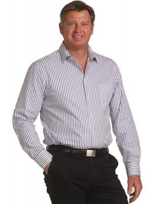 Men's Executive Sateen Stripe Long Sleeve Shirt