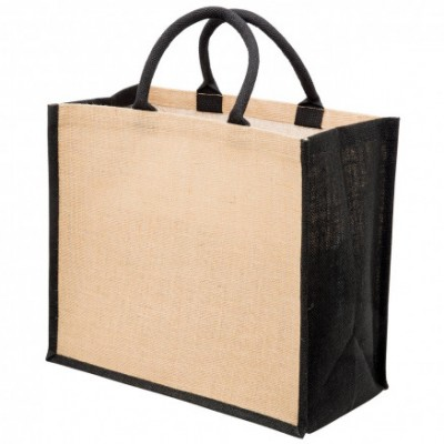 Legend Life Eco Jute Tote with wide gusset