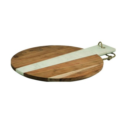 Peer Sorensen Acacia Wood & Marble Round Serving Board 46x35.5x2.4cm