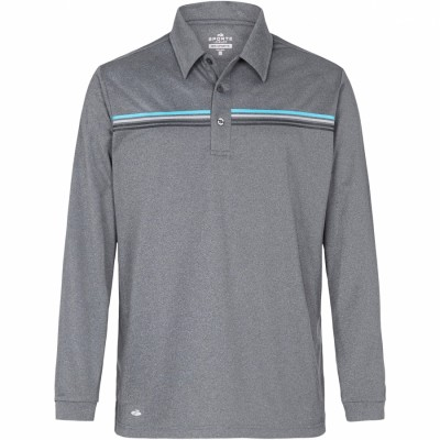 Reid Men Long Sleeve Polo
