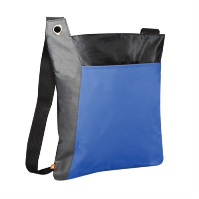 PBO Conference Zippered Tote - Blue/Grey/Black