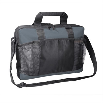 PBO Conference Portfolio Satchel - Grey/Black