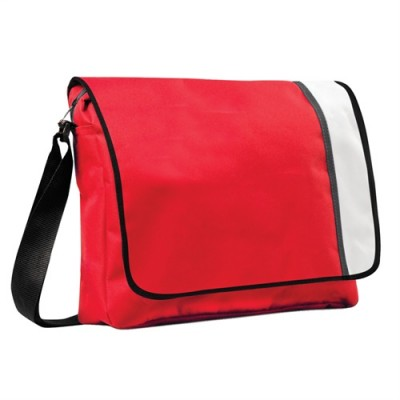 Promobags Spectrum Basic Flap Satchel red/Black/White