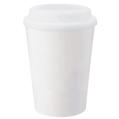 Double-Wall White Tumbler