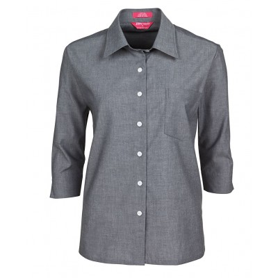 JB's Ladies Original 3/4 Fine Chambray Shirt