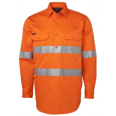 Hi Vis L/S (D+N) 190g Close Front Shirt