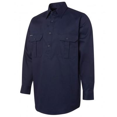L/S 190G Close Front Work Shirt