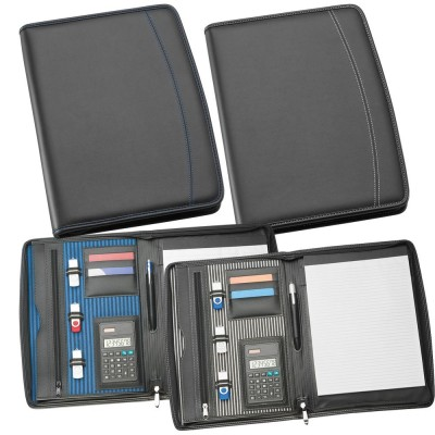 A4 Zippered Compendium with Calculator