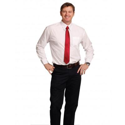 Men's Poplin Long Sleeve Business Shirt