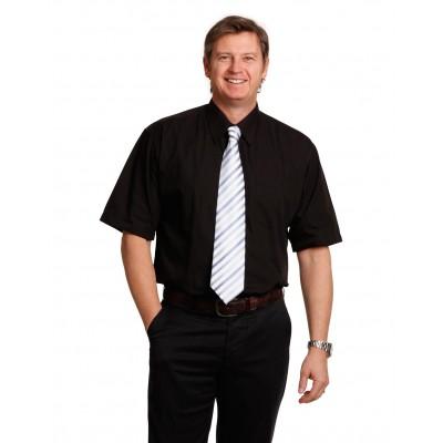 Men's Poplin Short Sleeve Business Shirt