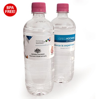 High Caliber 600ml Natural Spring Water with Pink Cap