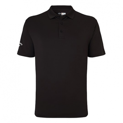 Callaway Classic Chev Solid Polo In Black - Mens