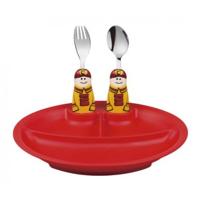 Eat4Fun Fireman 3pc Plate Set
