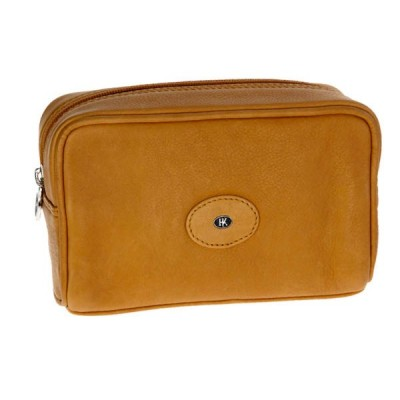 Europa Brands Hans Kniebes Dresden Leather Toiletry Bag