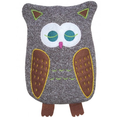 Europa Brands Hugo Frosch Eco Hot Water Bottle Luxury Knitted Cover Owl 0.8 L