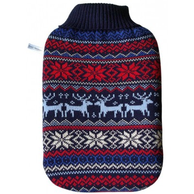 Europa Brands Hugo Frosch Eco Hot Water Bottle Luxury Knitted Norwegian Cover 2 L