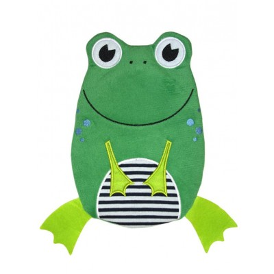 Europa Brands Hugo Frosch Hot Water Bottle Eco Junior Comfort Frog 0.8 L