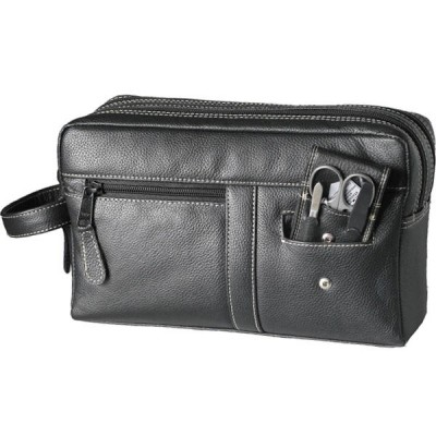 Europa Brands Sonnenschein Bavaria Leather Toiletry Bag With Nail Set