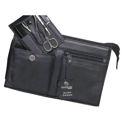 Europa Brands Sonnenschein Hamburg Leather Toiletry Bag With Nail Set