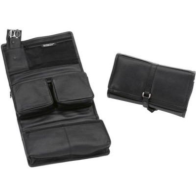 Europa Brands Sonnenschein Stuttgart Hanging Leather Toiletry Bag With Nail Set