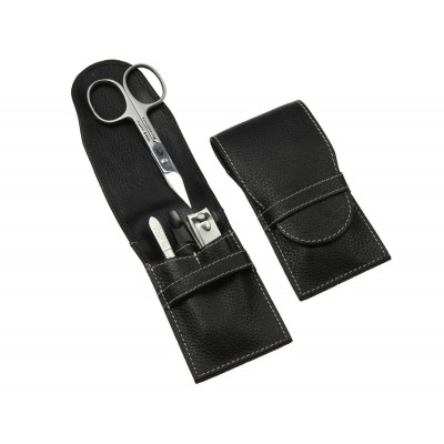 Europa Brands Sonnenschein Men's Leather Manicure Set 4 Pcs