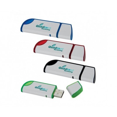 Slanted USB 2.0 Flash Drive - 4GB