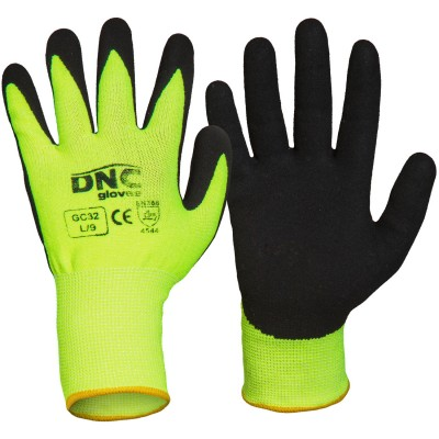 HiVis Cut5 - Nitrile Sandy Shinish