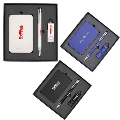 the-range-gift-set-with-charger-4gb-lacquered-rotate-flash-drive-hawk-pen