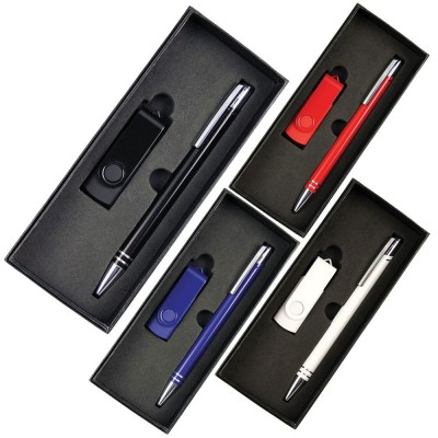 the-range-gift-set-with-4gb-lacquered-rotate-flash-drive-&-hawk-pen