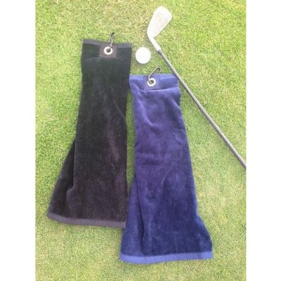 GL146 Luxury velour Golf towel with caribiner-1