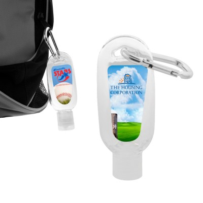 High Caliber 60ml Hand Sanitiser Gel with Carabiner