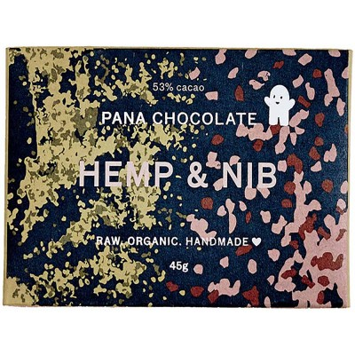 Pana Chocolate  Hemp & Nib 45G Bar