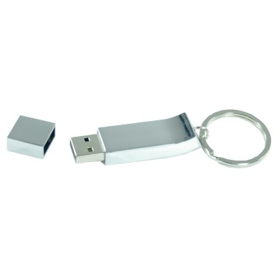 Promotional Solutions IT Chrome Keyring Flash Drive