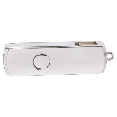 Promotional Solutions IT Rabin Metal Swivel Flash Drive