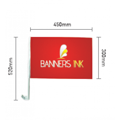 Banners INK Car Flags